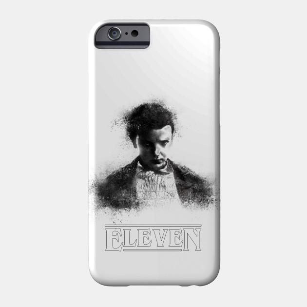 Stranger Things - Eleven / Millie Bobby Brown - portrat sand explosion (black) - Hawkins