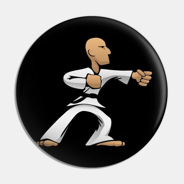 Cool Martial Arts Dude Karate Pin Teepublic