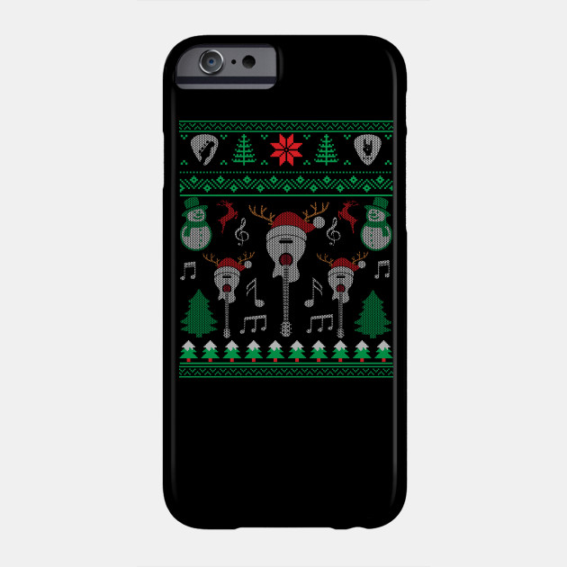 Christmas Electric Guitar Acoustic Guitar Ugly Christmas Sweater Phone Case