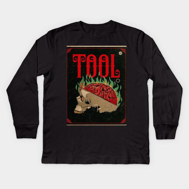 b060c76c8b4486 TOOL band music Maynard James keenan art design poster shirt Kids Long  Sleeve T-Shirt