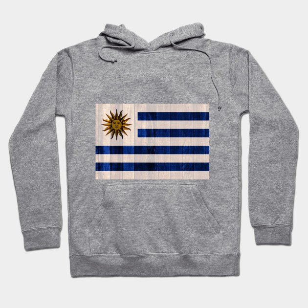 Flag of Uruguay - Wood