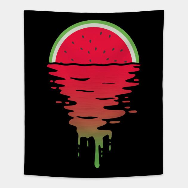 7ac239da Watermelon 80s Style Sunset Pop Art T-Shirt - Watermelon - Tapestry ...