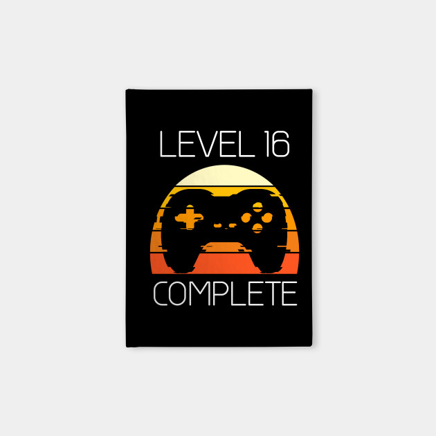 Vintage 16th Birthday Level 16 Old Funny Gamers Gift T Shirt Notebook