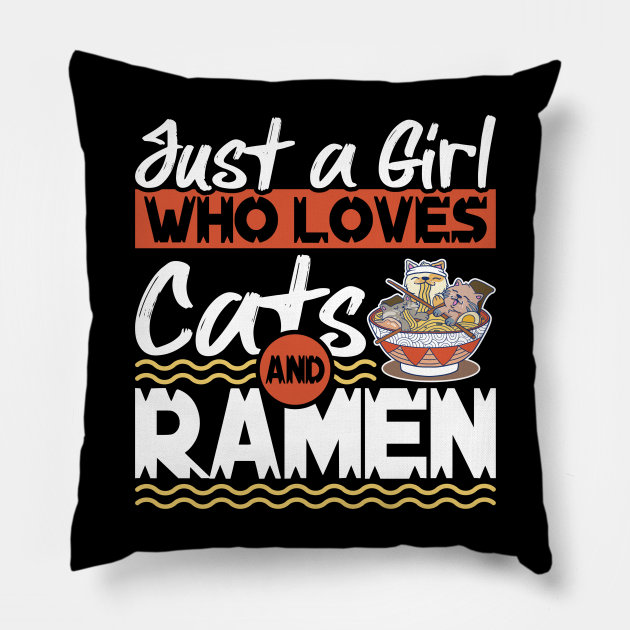 Just A Girl Who Loves Cats And Ramen Anime Kawaii Kitten