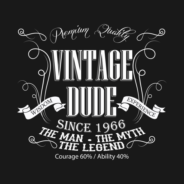 Vintage Dude 50 Since 1966 50th Birthday Gift For Men