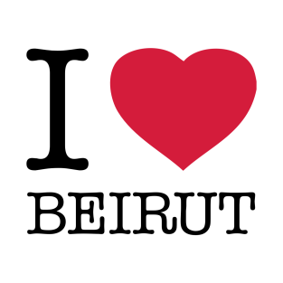 I LOVE BEIRUT t-shirts
