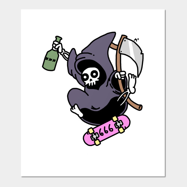 Blind Skater Turnbeutel Grim Reaper Skate Sk8 or die Half Pipe Sensenmann