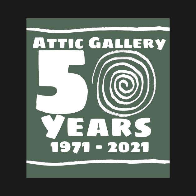 Attic 50 years logo green