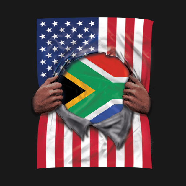 South Africa Flag American Flag Ripped - Gift for South African From South  Africa