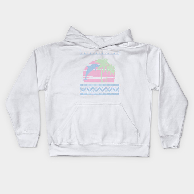 Blue And White Christmas Sweater.Light Blue Pink And Light Green Pastel Palm Tree And Dolphin Ugly Christmas Sweater Design