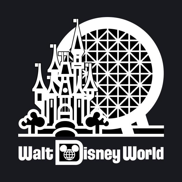 Retro WDW Resort Logo (Dark Shirts)