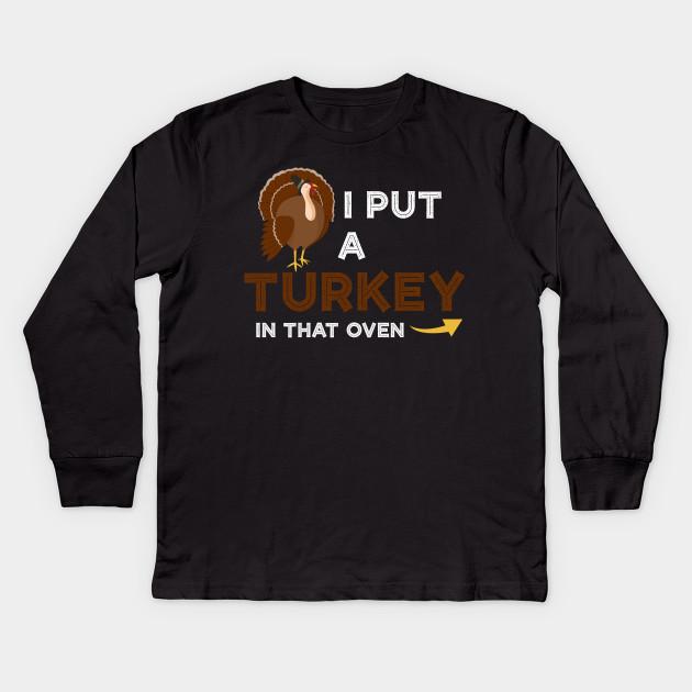 5c5b4220 Thanksgiving Turkey TShirt Expecting Dad Wife Tee Kids Long Sleeve T-Shirt