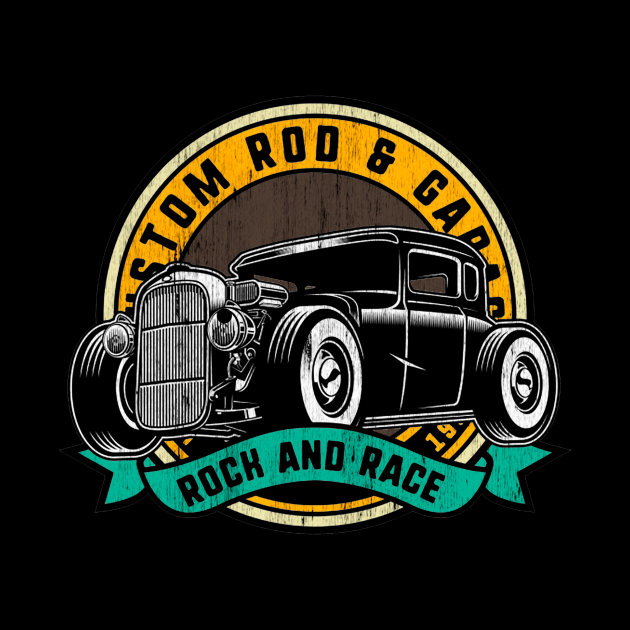 Rock and Race Hot Rod Garage Classic Car
