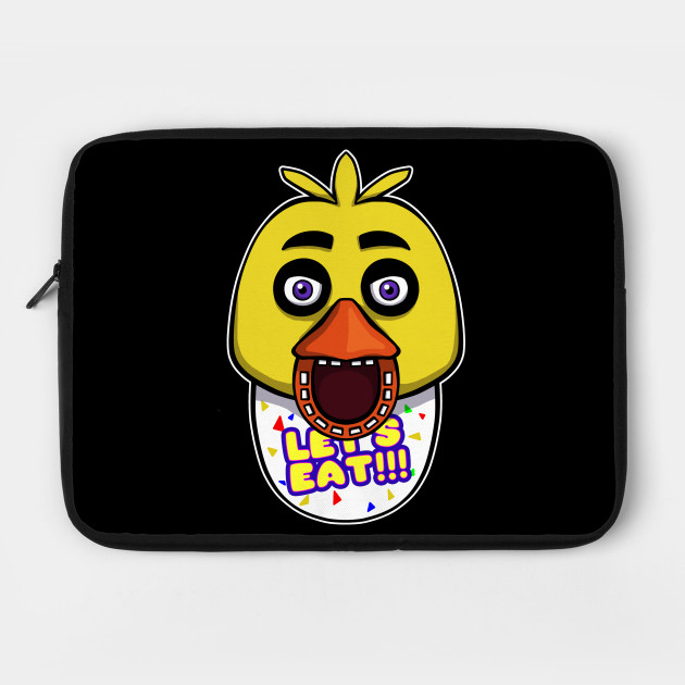 five nights at freddy s chica springtrap laptop case teepublic