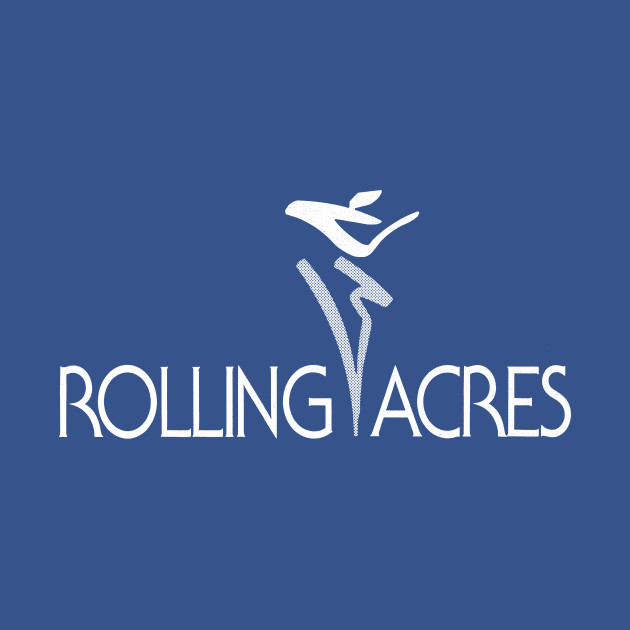 Rolling Acres Mall 1980s Logo - White