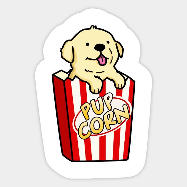 Pupcorn Cute Popcorn Pun