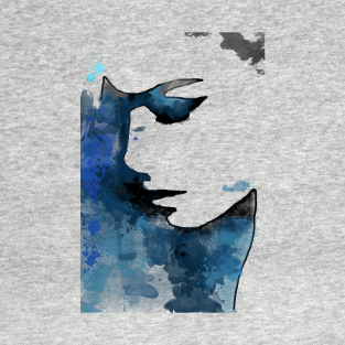 Watercolour Face t-shirts
