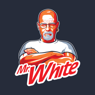 Mr. White on a dark tee t-shirts