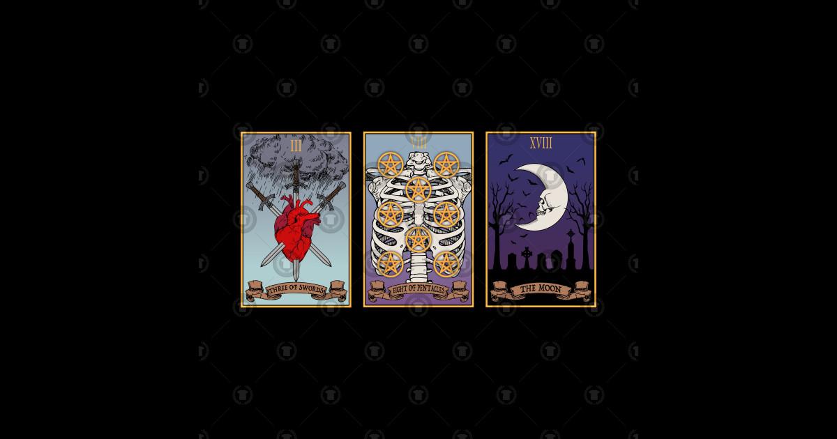 Three Tarot Cards by ravenwake