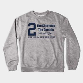 e5ace780fd2 Derek Jeter (GREY) Crewneck Sweatshirt. by ny_islanders_fans