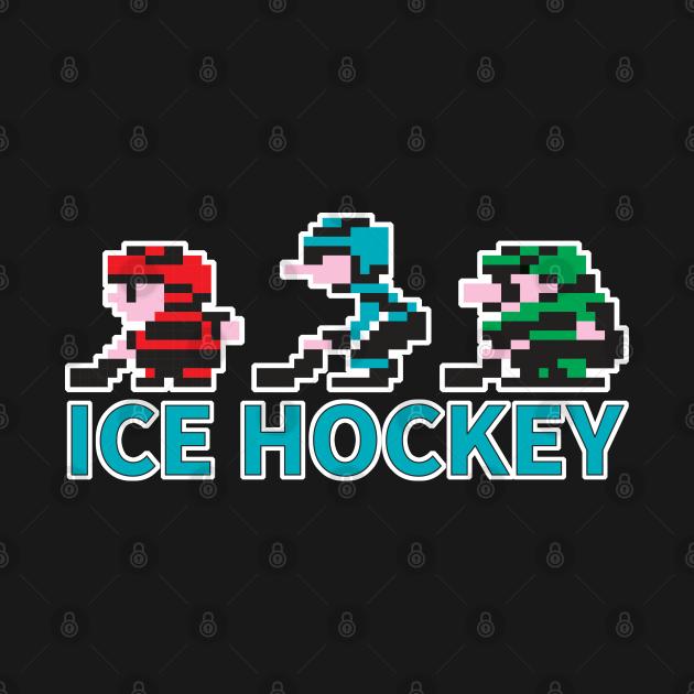 8-bit Ice Hockey Guys for Dark T-Shirts
