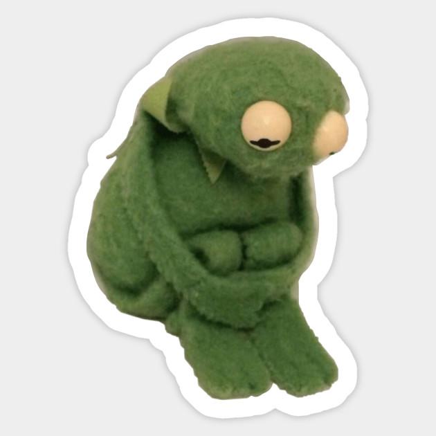 Sad Kermit Kermit The Frog Sticker Teepublic