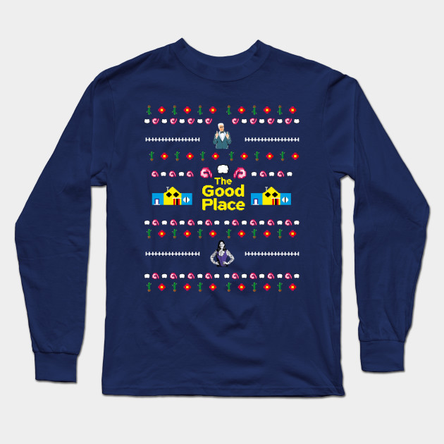 Ugly Christmas Sweater Pattern.The Good Place Ugly Christmas Sweater Pattern