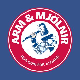 Arm & Mjolnir t-shirts