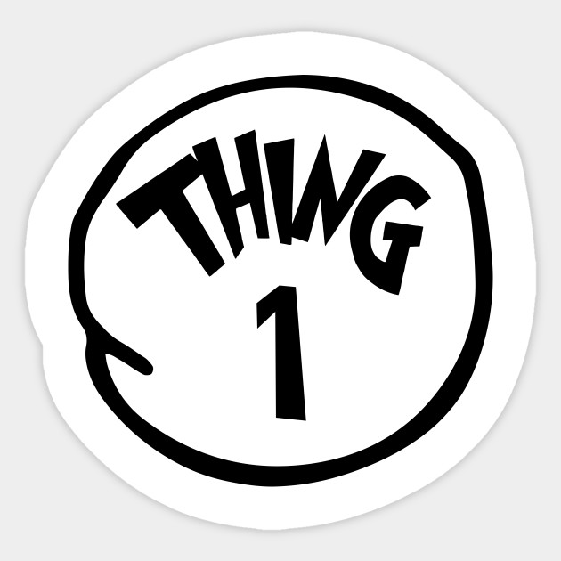Remarkable image throughout thing 1 and thing 2 printable template