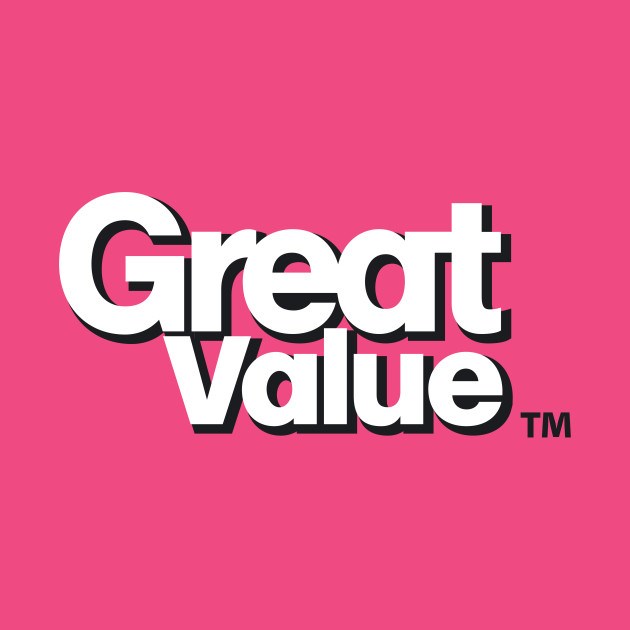 great value logo - walmart - t-shirt | teepublic