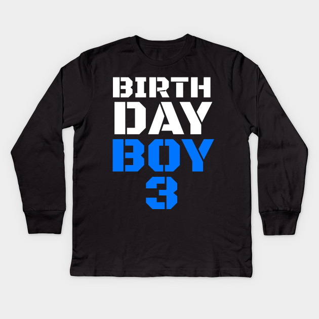 Birthday Boy 3 3rd Tee Boys