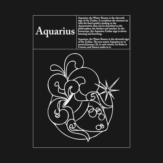 Aquarius Symbol And Description Zodiac Symbol T Shirt Teepublic