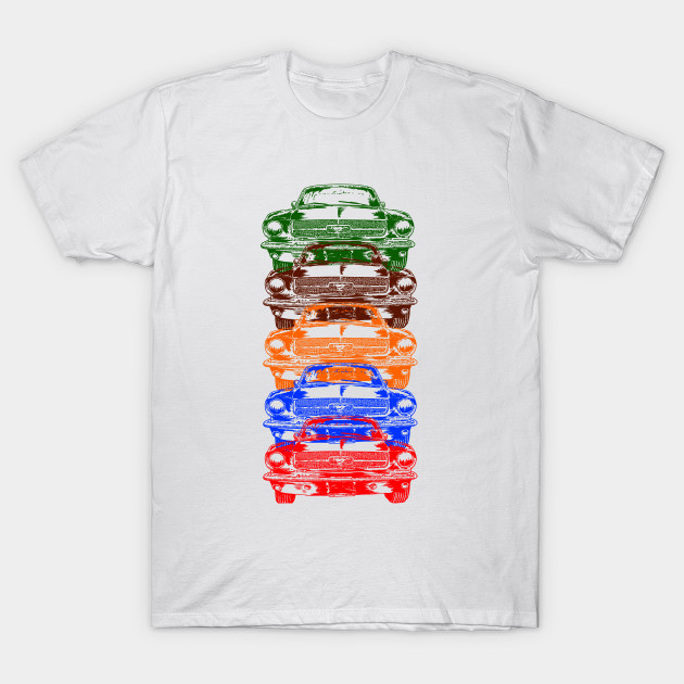 8c9ee3b4 Vintage Race Muscle Car Repeat Stacked - Mustang - T-Shirt | TeePublic