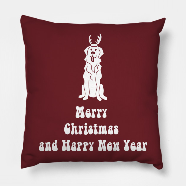 Merry Christmas And Happy New Year Golden Retriever T Shirt