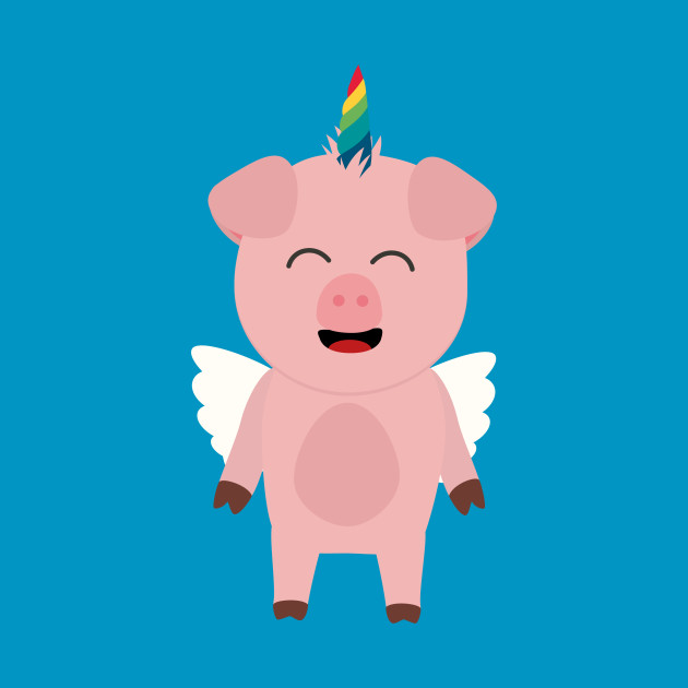 Pig with Unicorn Horn