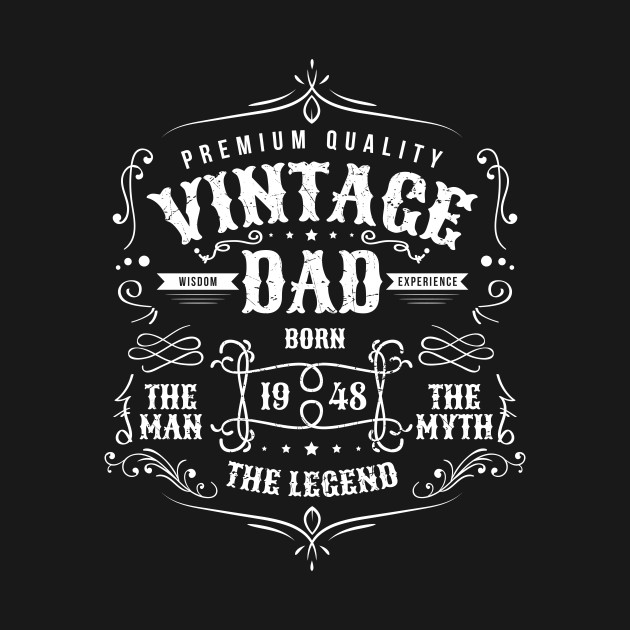 Vintage Dad Born 1948 Shirt