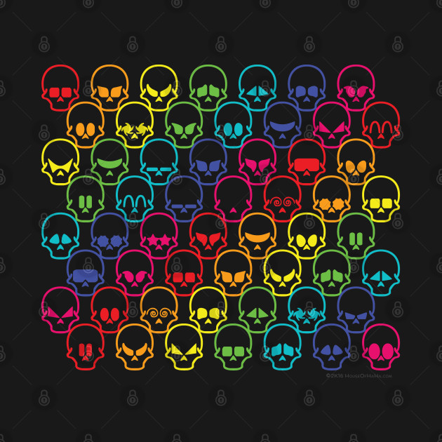 Cool Rainbow Skull Psychedelic Spectrum Tessellation