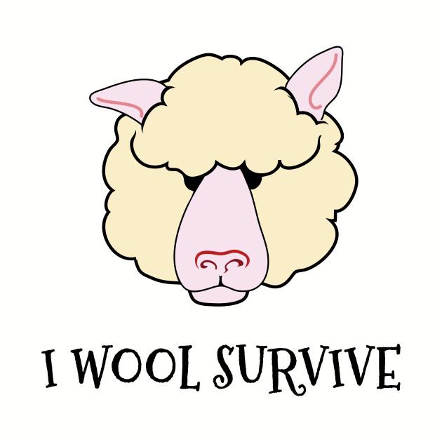 I Wool Survive Funny Sheep Knitting Crochet Fiber Art Shirt