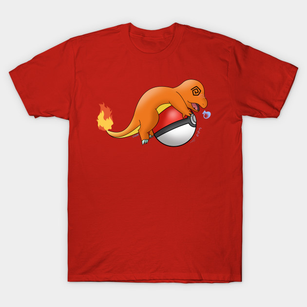 Charmander dizzy with pokeball