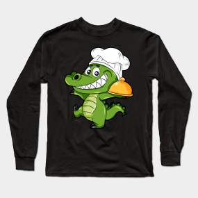 8e4f34a48 Cooking Alligator crocodile Cook Kitchen Chef Gift Long Sleeve T-Shirt