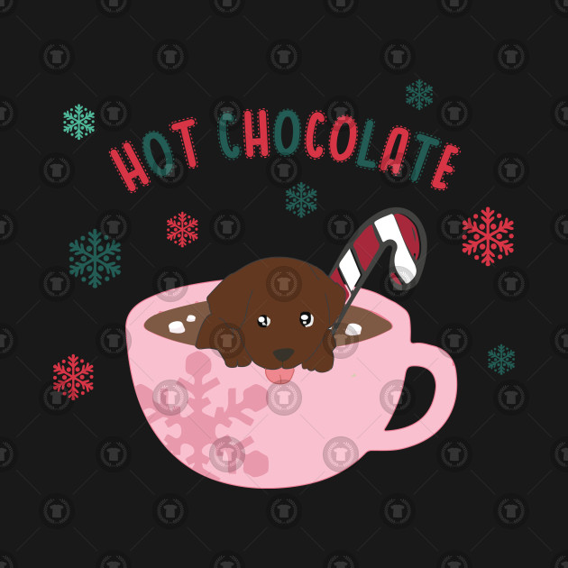 Hot Chocolate Labrador Puppy Funny Christmas Love Shirts Labrador