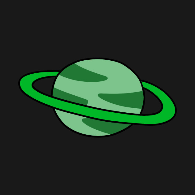 Green Ringed Planet