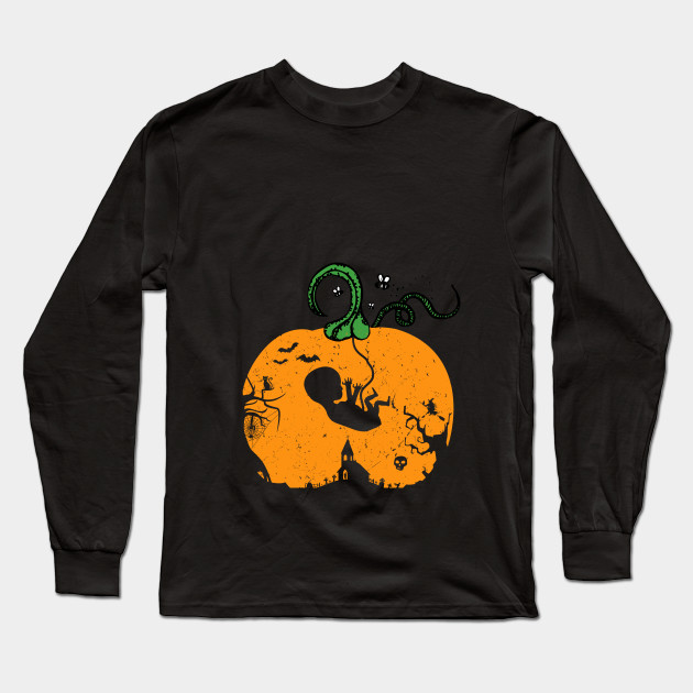 Halloween Pregnancy T Shirt.Halloween Maternity Pregnancy Announcement Fetus Baby