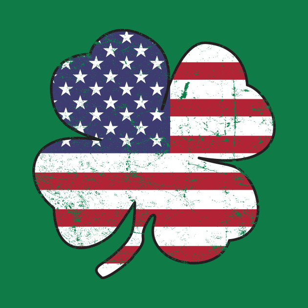 American Flag Shamrock