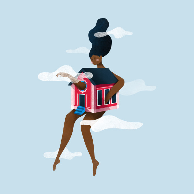 Girl in a house