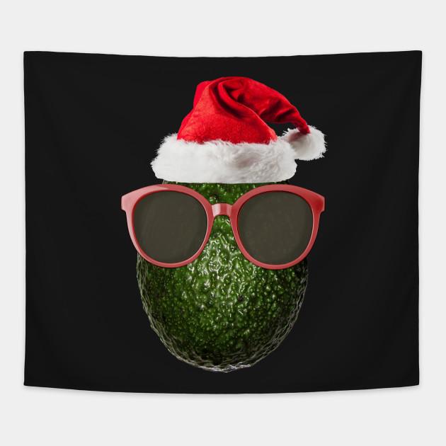 Funny Vegan Christmas Avocado Santa Hat Gift Ideas