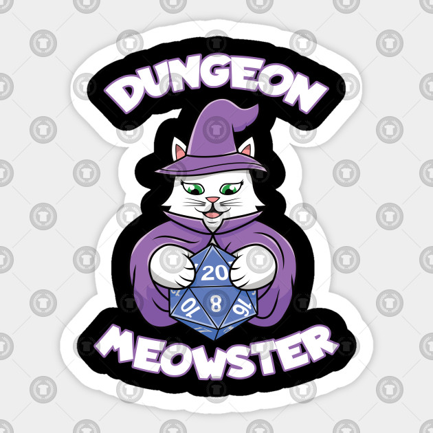 Dungeon Meowster Tabletop Funny Magician Cat D20