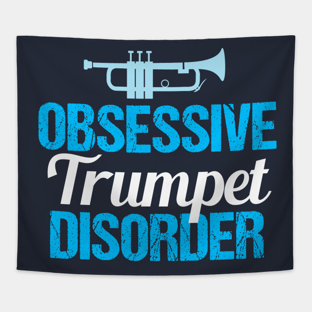 62be13ea Funny Trumpet Player - Cute Trumpet - Tapestry | TeePublic