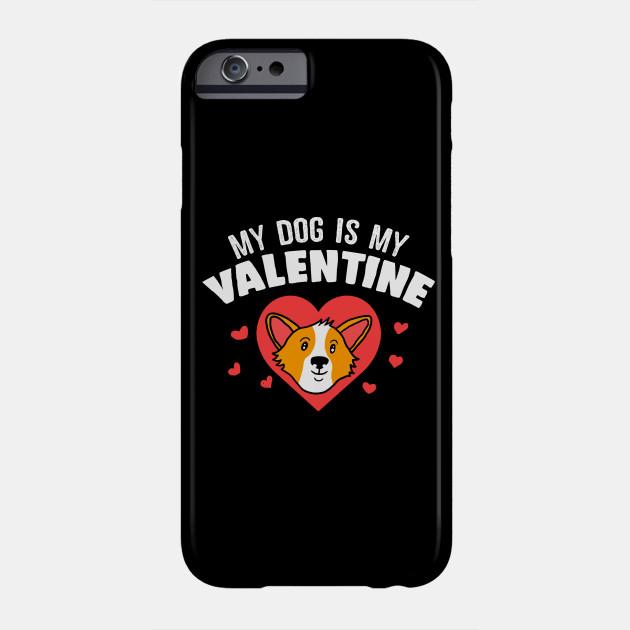 Funny Corgi Dog Valentines Day Apparel Phone Case