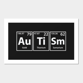 autism au ti sm periodic elements spelling home goods - Periodic Table Autistic